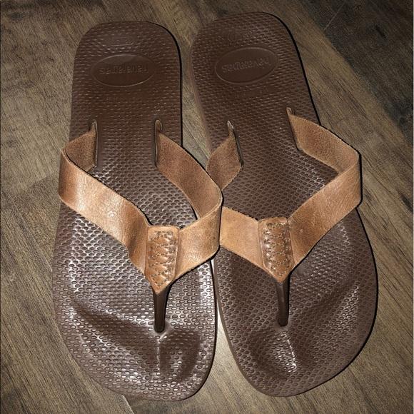 Havaianas Shoes   Leather Flip Flops